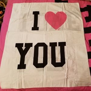 """Other - VS/PINK RARE/HTF 2-PILLOW CASES """"I LOVE YOU/ME"""""""